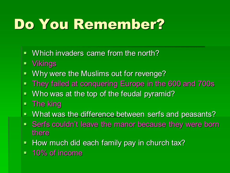 Do You Remember Which invaders came from the north Vikings