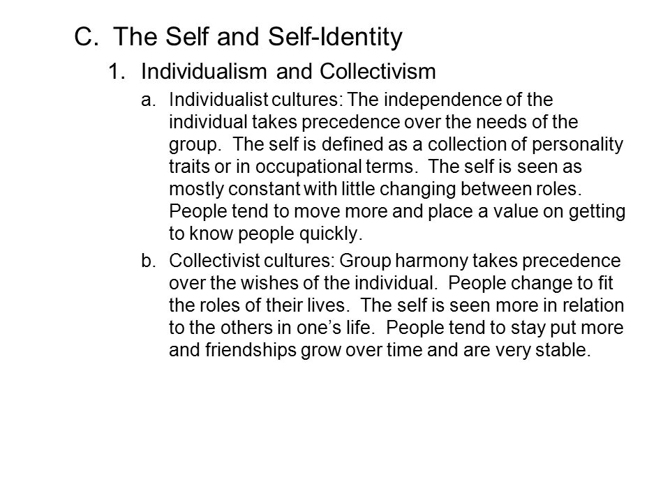 The Self and Self-Identity
