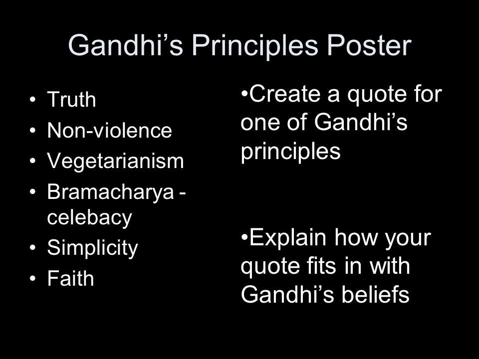 Gandhi's Principles Poster