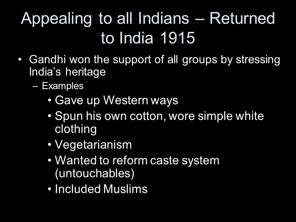 Appealing to all Indians – Returned to India 1915