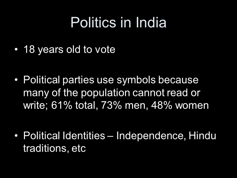 Politics in India 18 years old to vote