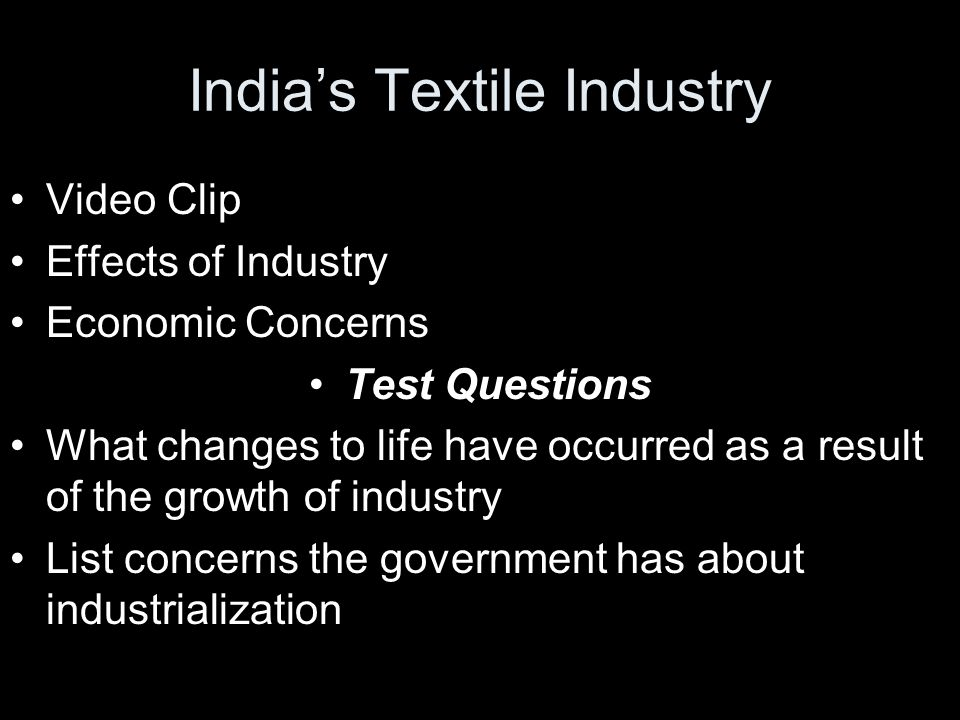 India's Textile Industry
