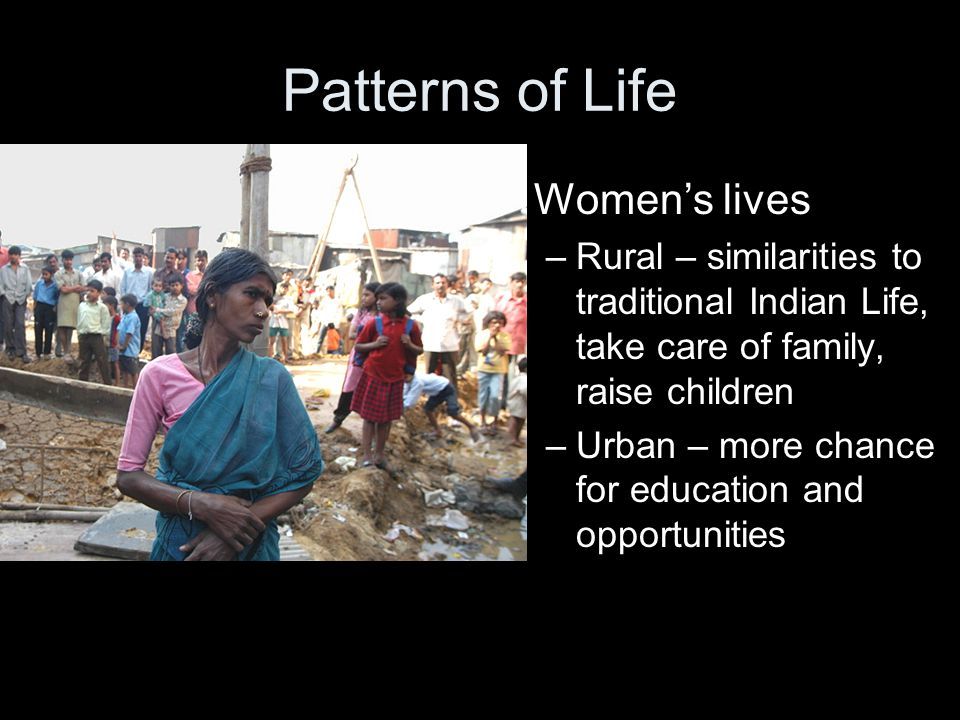 Patterns of Life Women's lives