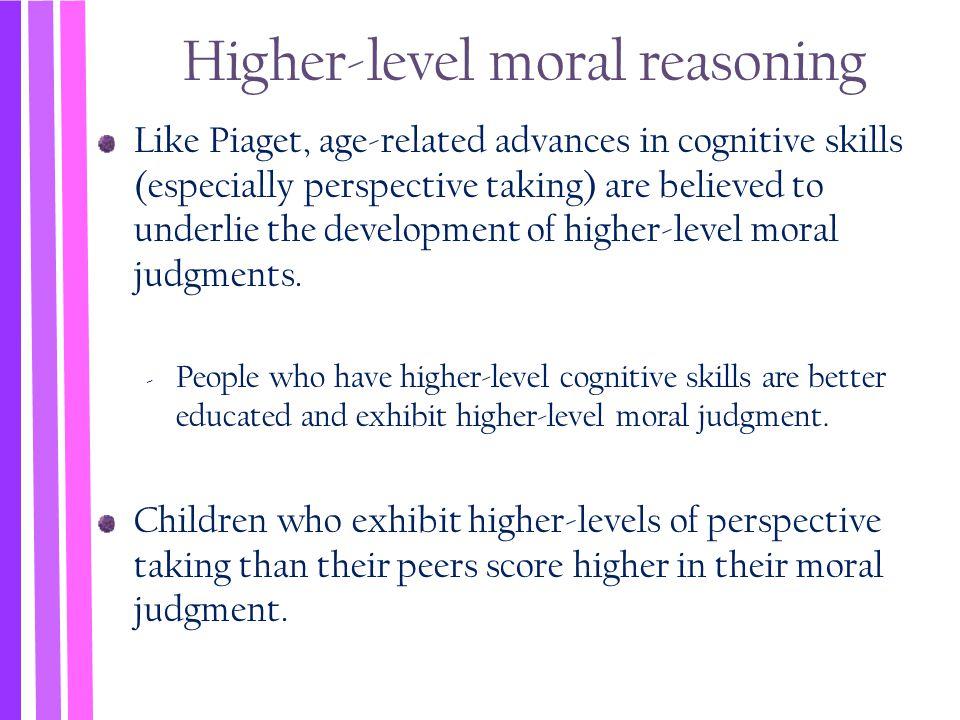 Higher-level moral reasoning