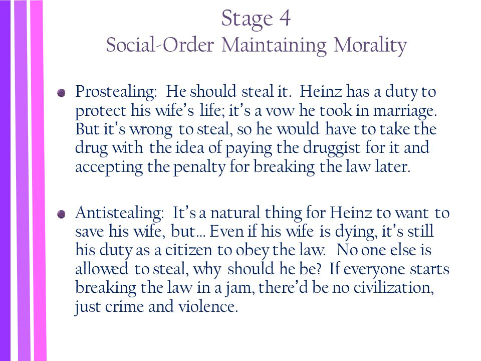 Stage 4 Social-Order Maintaining Morality