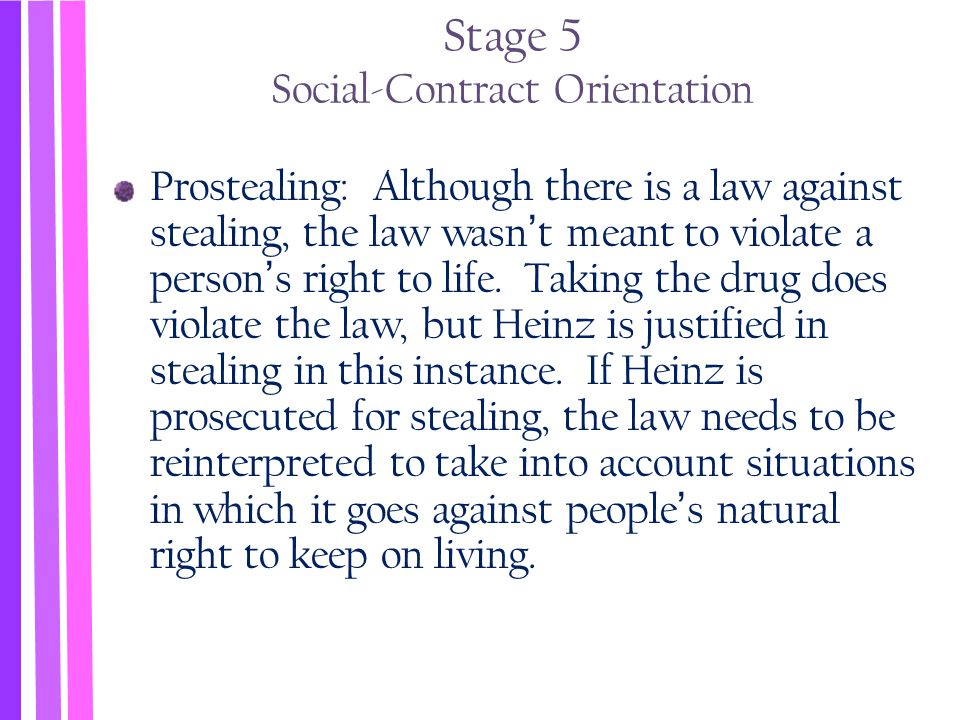 Stage 5 Social-Contract Orientation