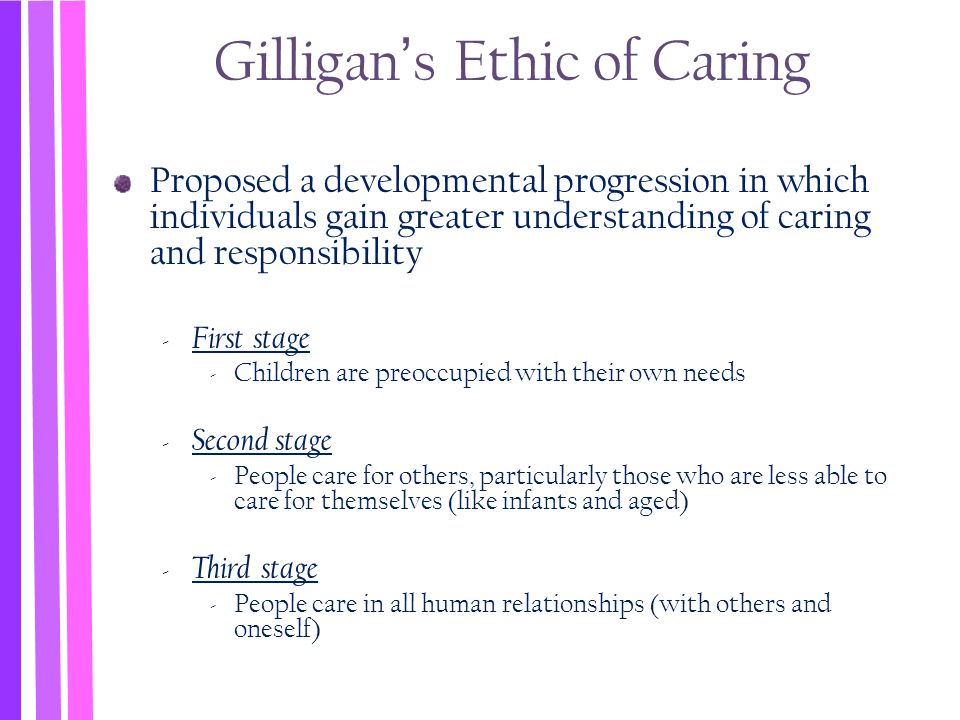 Gilligan's Ethic of Caring