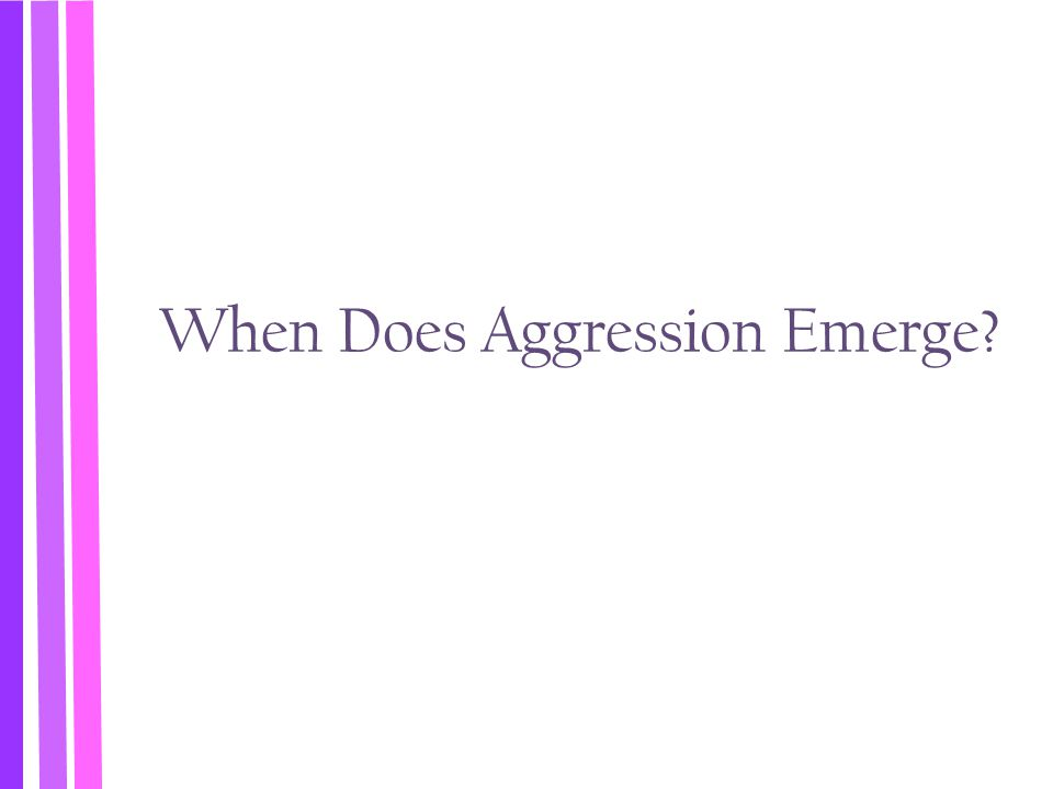When Does Aggression Emerge