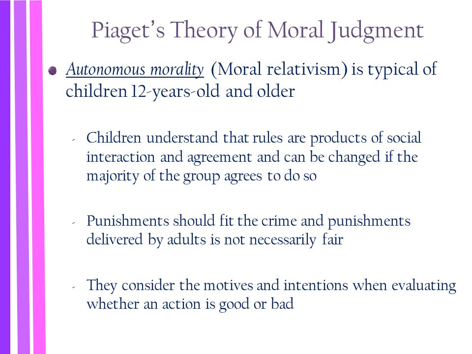 Piaget's Theory of Moral Judgment