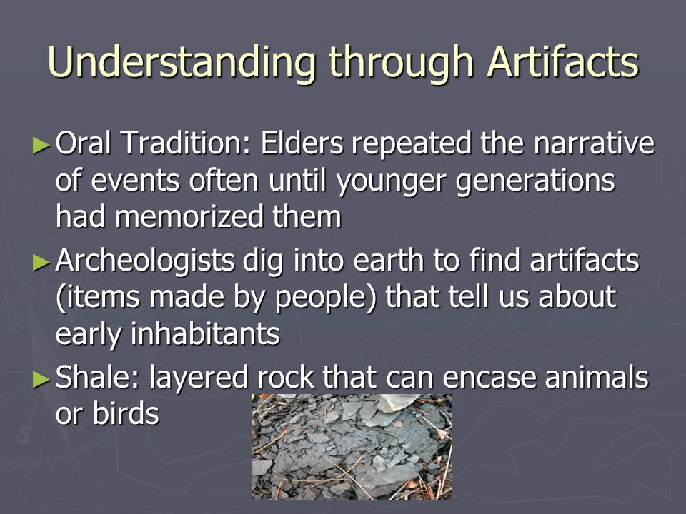 Understanding through Artifacts