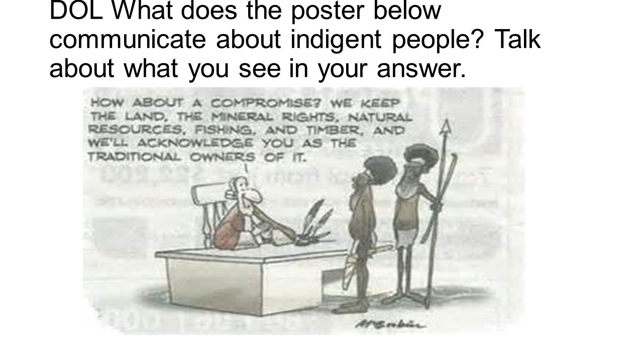 DOL What does the poster below communicate about indigent people