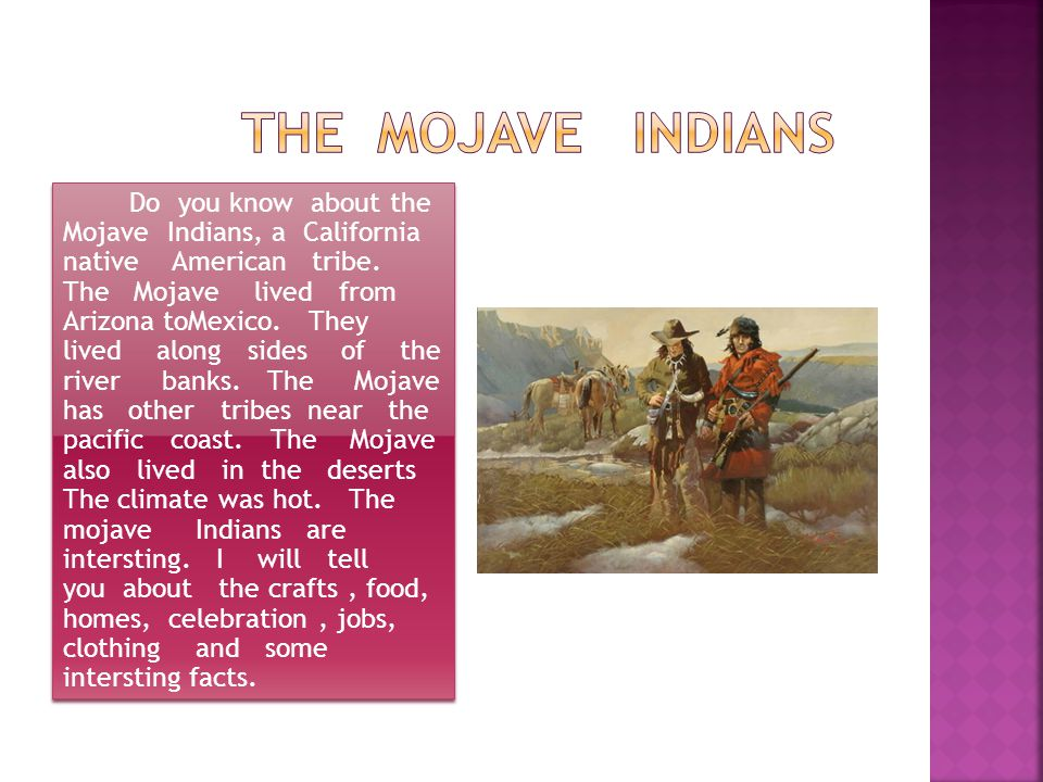 The Mojave Indians