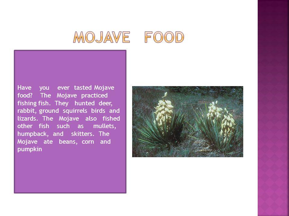 Mojave food