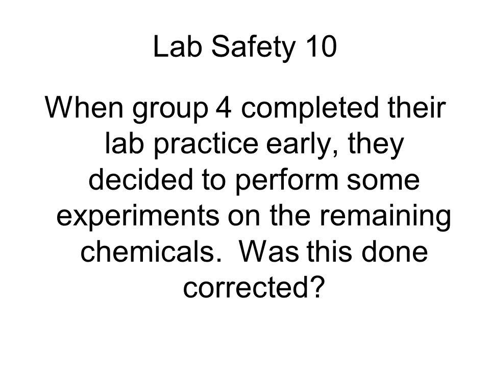Lab Safety 10