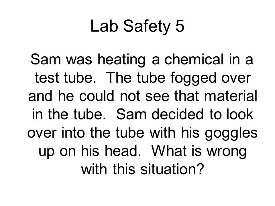 Lab Safety 5