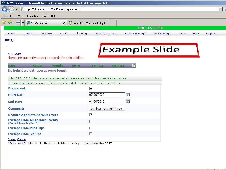 Example Slide