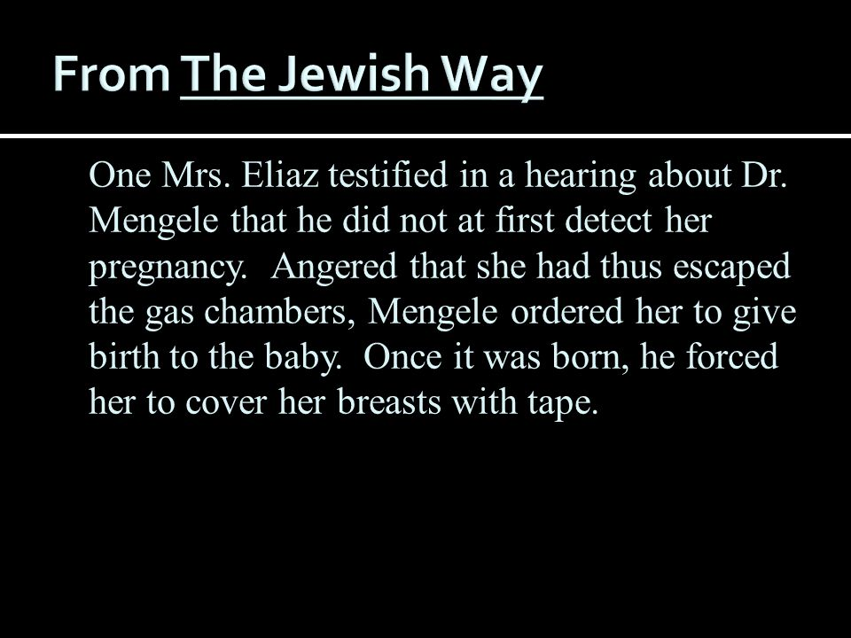 From The Jewish Way