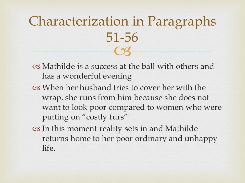 Characterization in Paragraphs 51-56