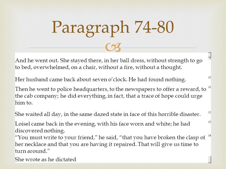Paragraph 74-80