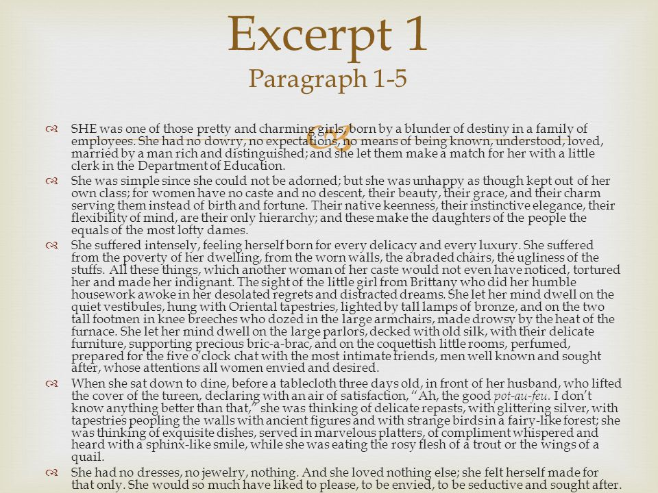 Excerpt 1 Paragraph 1-5