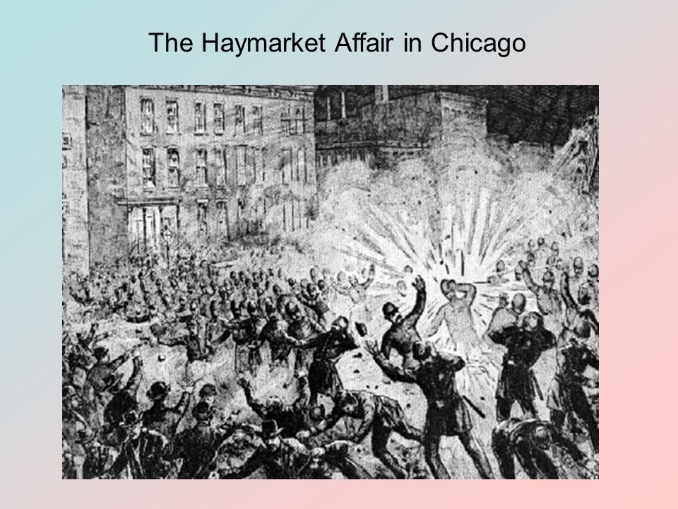 The Haymarket Affair in Chicago