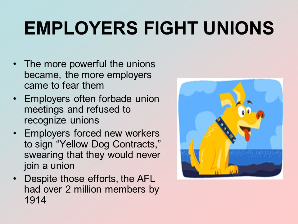 EMPLOYERS FIGHT UNIONS
