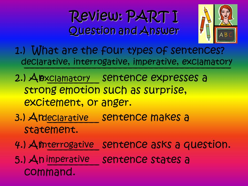 Review: PART I Question and Answer
