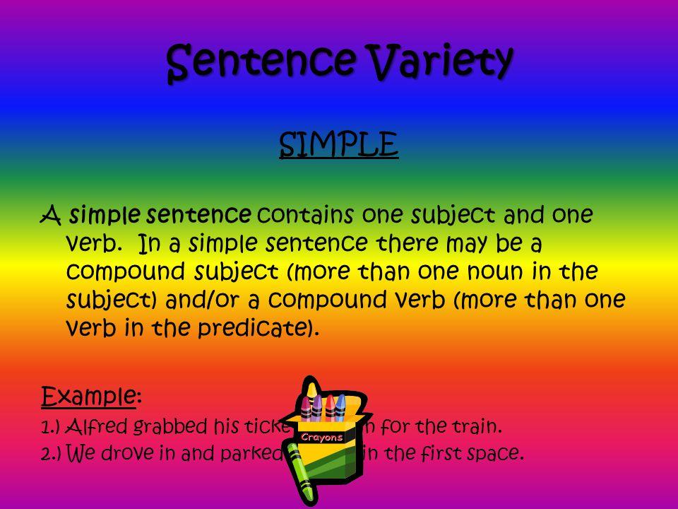 Sentence Variety SIMPLE