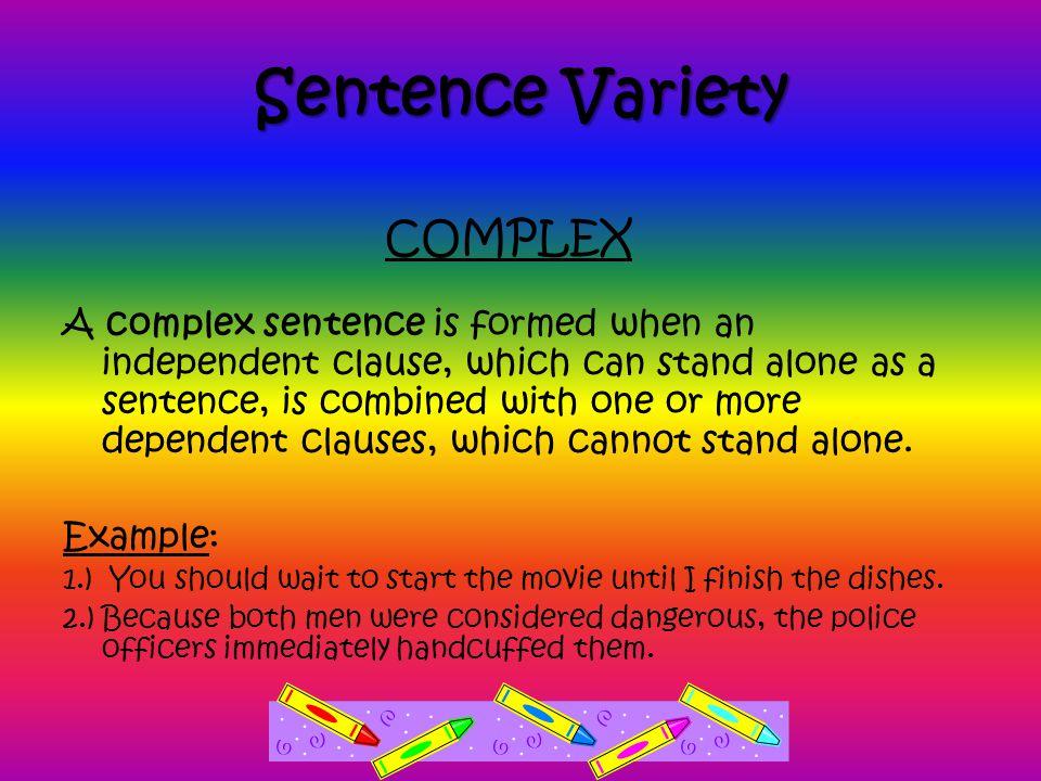 Sentence Variety COMPLEX
