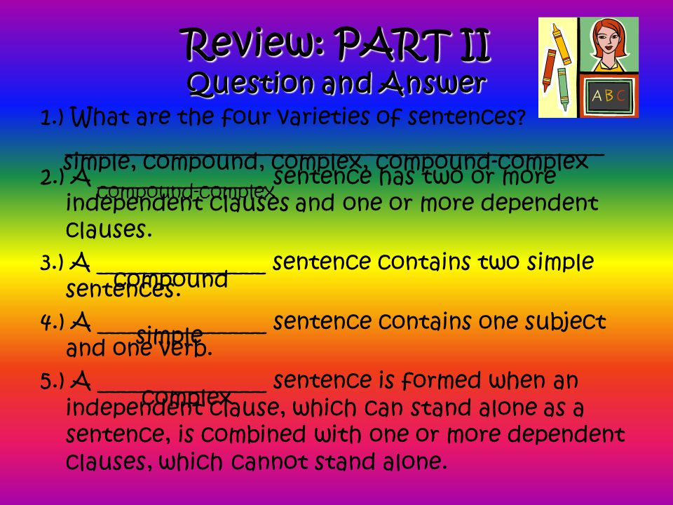 Review: PART II Question and Answer