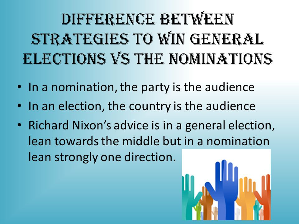 Difference Between Strategies to Win General Elections vs the Nominations