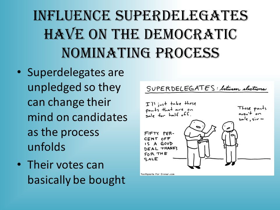 Influence Superdelegates Have on the Democratic Nominating Process