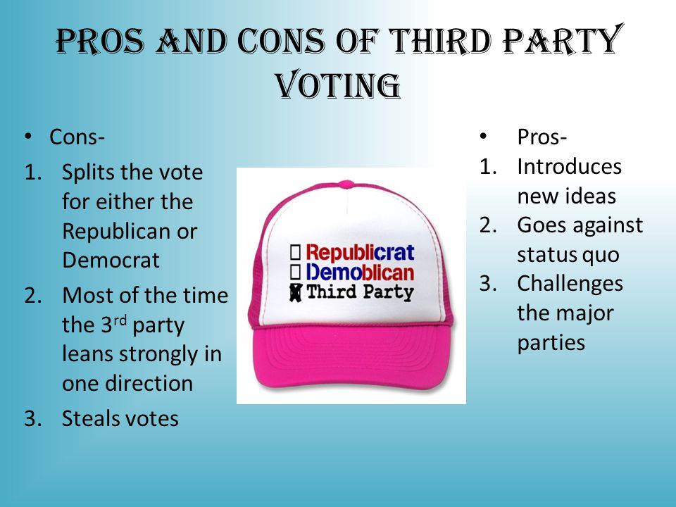 Pros and Cons of Third Party Voting