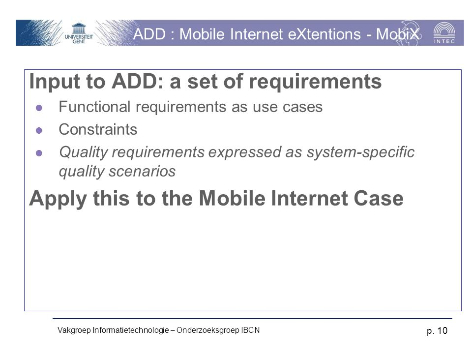 ADD : Mobile Internet eXtentions - MobiX