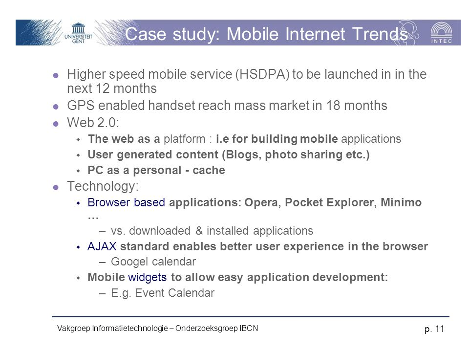 Case study: Mobile Internet Trends