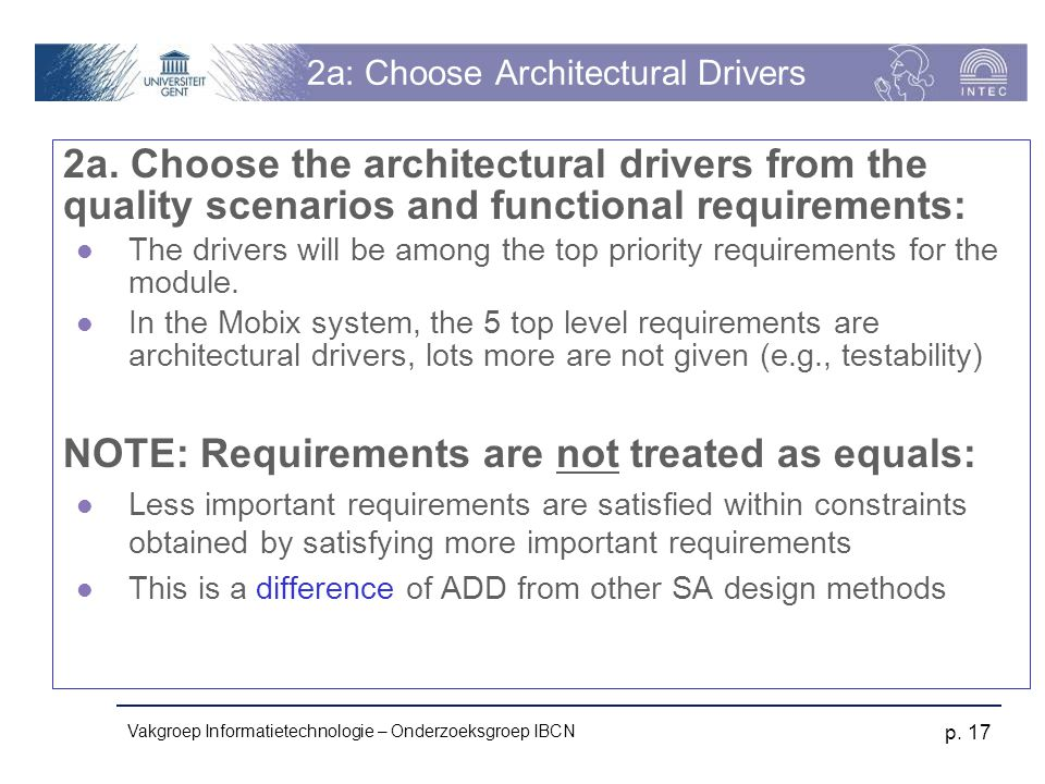 2a: Choose Architectural Drivers