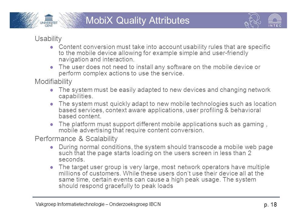 MobiX Quality Attributes