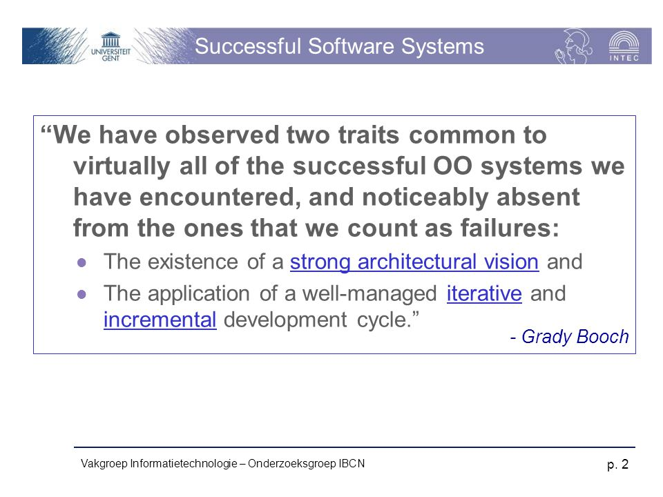 Successful Software Systems