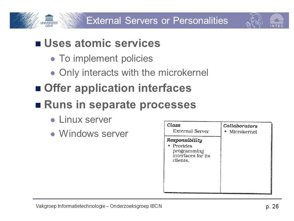 External Servers or Personalities