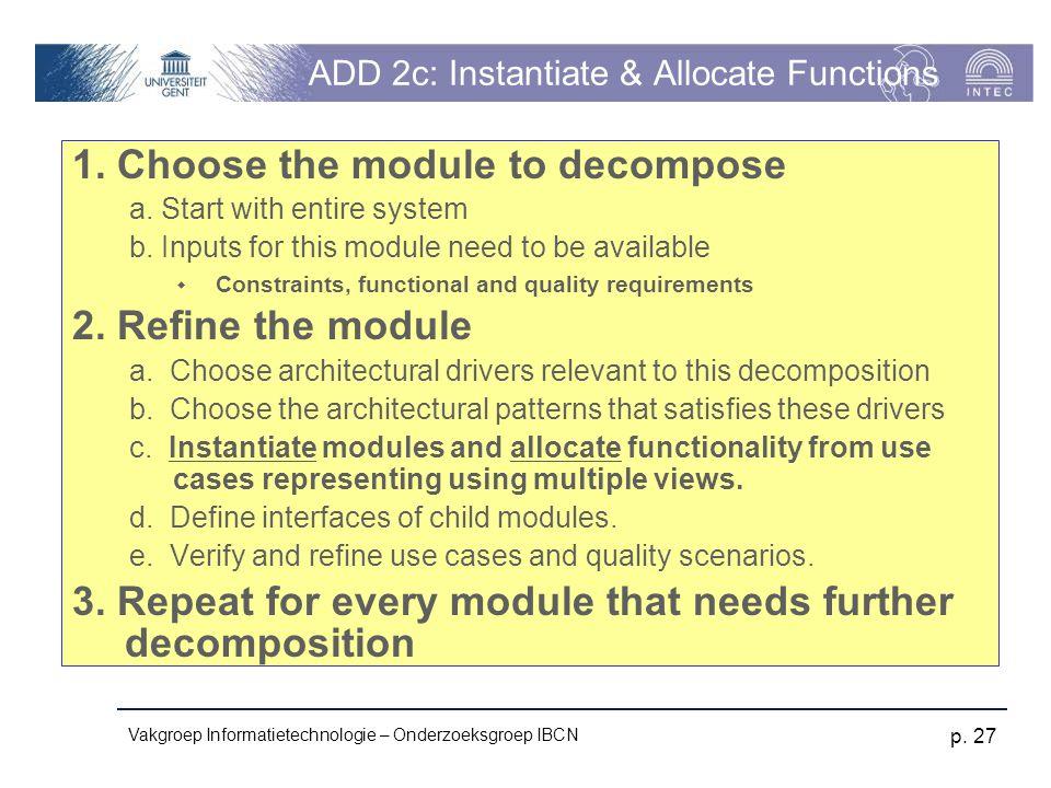 ADD 2c: Instantiate & Allocate Functions