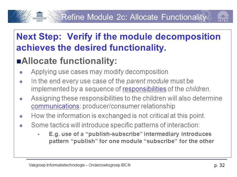Refine Module 2c: Allocate Functionality