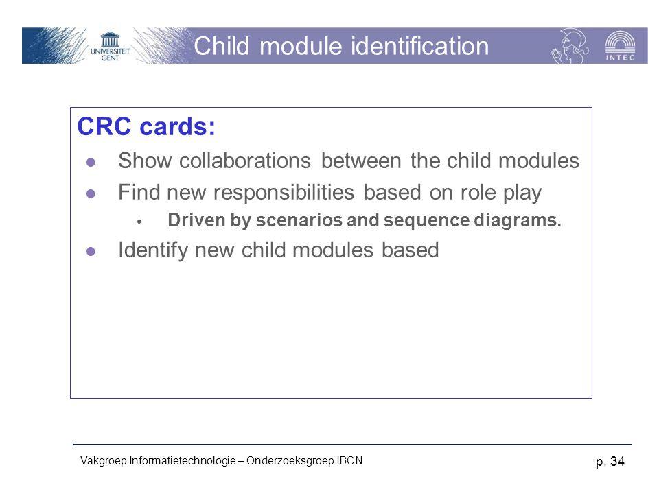 Child module identification