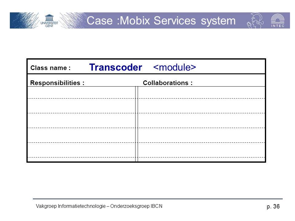 Case :Mobix Services system