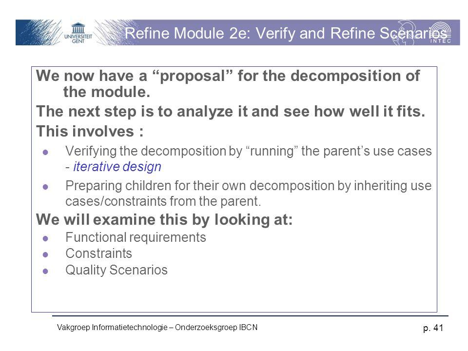 Refine Module 2e: Verify and Refine Scenarios