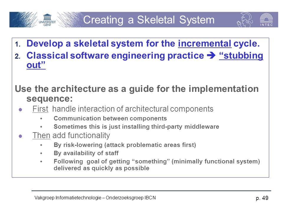Creating a Skeletal System