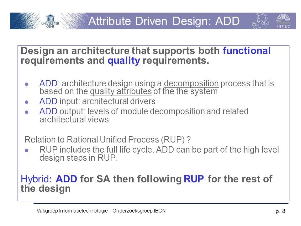 Attribute Driven Design: ADD