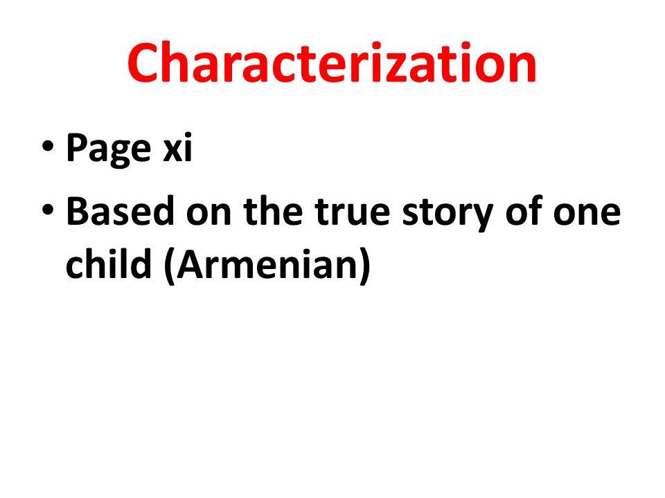 Characterization Page xi