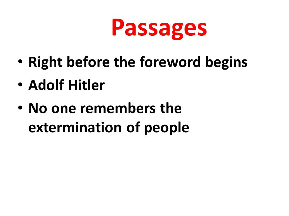 Passages Right before the foreword begins Adolf Hitler