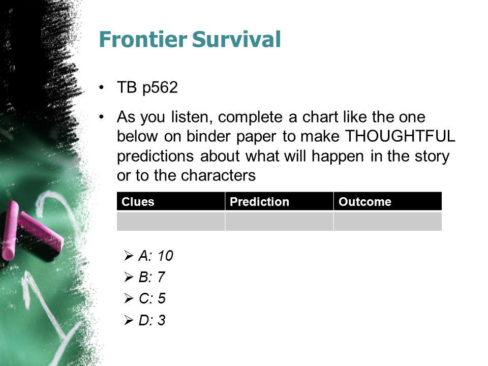 Frontier Survival TB p562.