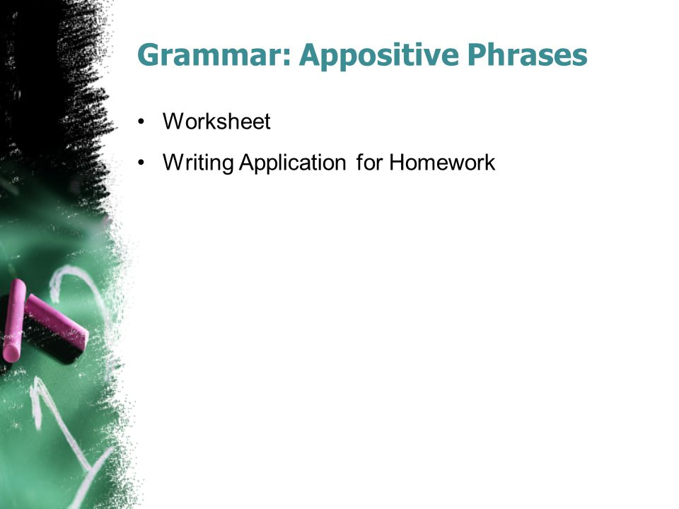 Grammar: Appositive Phrases
